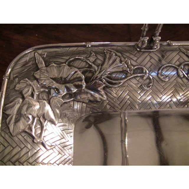 Japanese Meiji Period Solid Silver Basket - Exceptional For Sale - Image 4 of 10