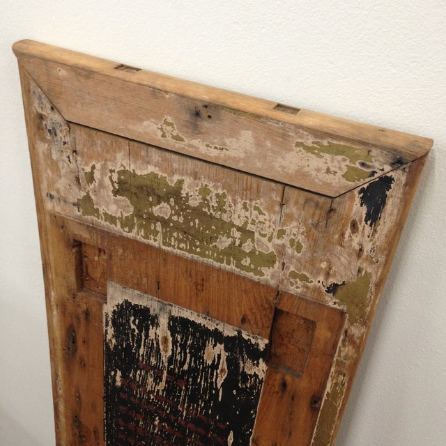 Antique Rustic Asian Wood Panel For Sale - Image 11 of 11
