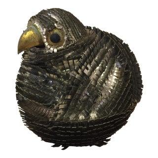 Circa 1970s Metal Owl
