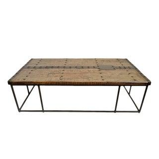 Modern Rustic Door Coffee Table For Sale