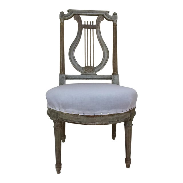 Antique French Slipper Chair For Sale