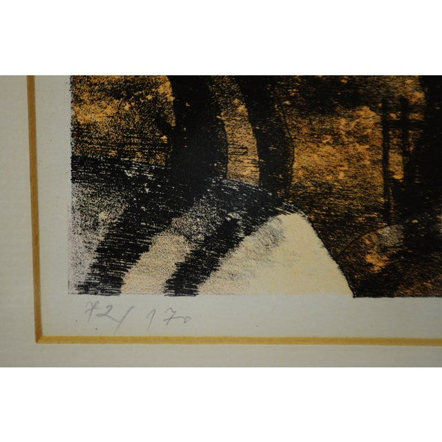 Vintage Framed Limited Edition Landscape Serigraph - Signed and Numbered For Sale - Image 4 of 13
