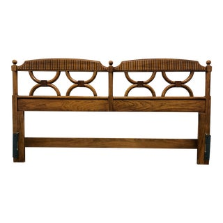Thomasville Stroupe Faux Bamboo King Headboard For Sale