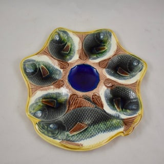 Adams & Bromley English Majolica Fish Shaped 19th C. Oyster Plate Preview