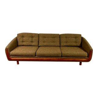 1960s Vintage Adrian Pearsall Inspired Refinished Sofa For Sale