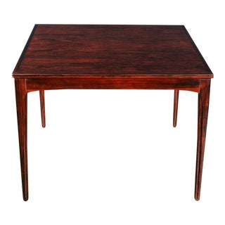 French Art Deco Amboyna Veneered Square Table For Sale