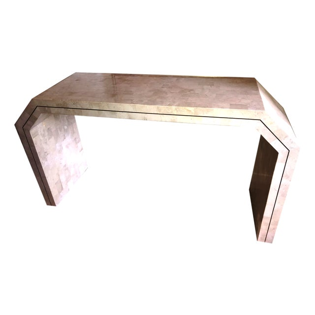 1970s Contemporary Maitland Smith Tessellated Stone Console Table For Sale - Image 12 of 12