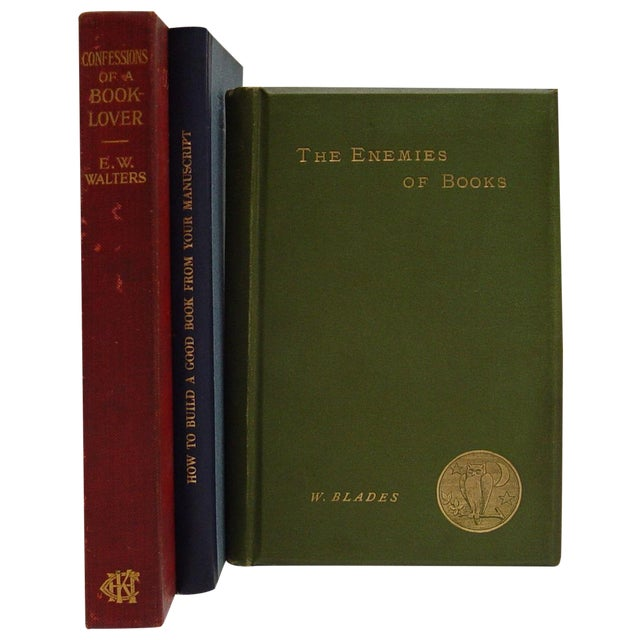 Book Lovers & Book Care Volumes - Set of 3 For Sale