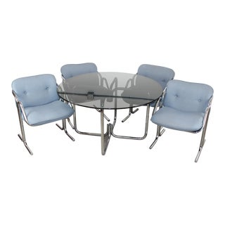 1970s Vintage Jerry Johnson for Landes Dining Set- 5 Pieces For Sale