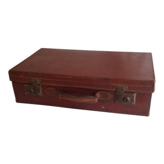 20th Century Traditional Style Leather Suitcase
