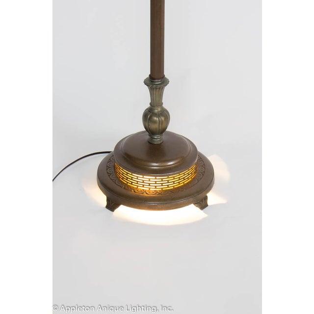 Restored Vintage 6 Way Floor Lamp With Mica Nightlight For Sale In Boston - Image 6 of 8
