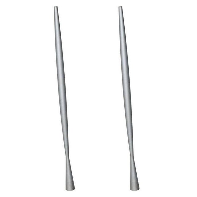 Metal Vintage Minimalist Philippe Starck Four Foot Hanging Steel Pendants - a Pair For Sale - Image 7 of 7