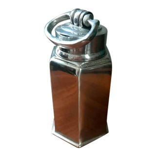 Vintage Dupuis Pewter Tea Caddy Screw Top Herb Storage For Sale