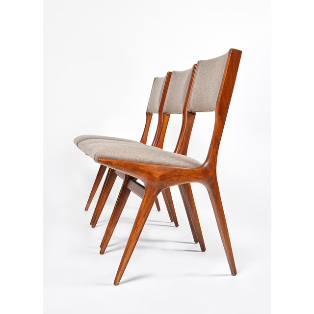 1950s Carlo De Carli Mod 158 Dining Chairs, Italy, 1953 - Set of 6 For Sale - Image 5 of 10