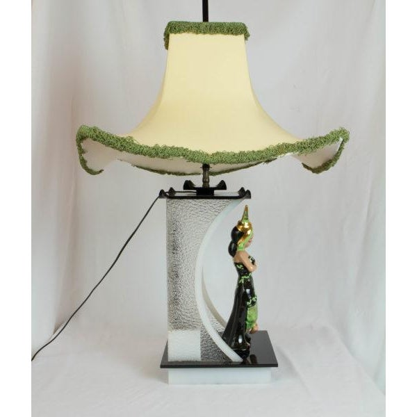 1950s Siamese Dancer Moss Lamp For Sale - Image 5 of 8