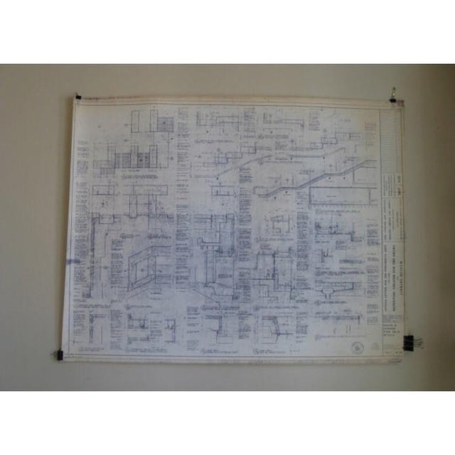 NYC Saarinen 1962 Lincoln Center Blueprint - Image 2 of 5