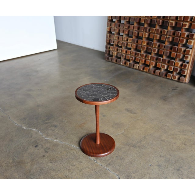 Mid-Century Modern Ceramic Tile Top Occasional Table by Gordon Martz For Sale - Image 3 of 6