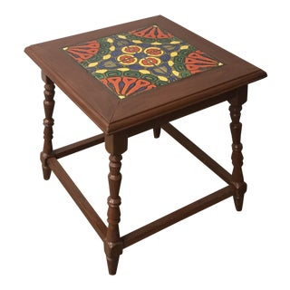 Vintage California Catalina Tile Top Table For Sale