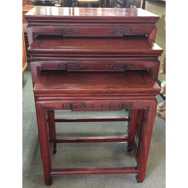 Set of Rosewood Nesting Tables For Sale - Image 13 of 13