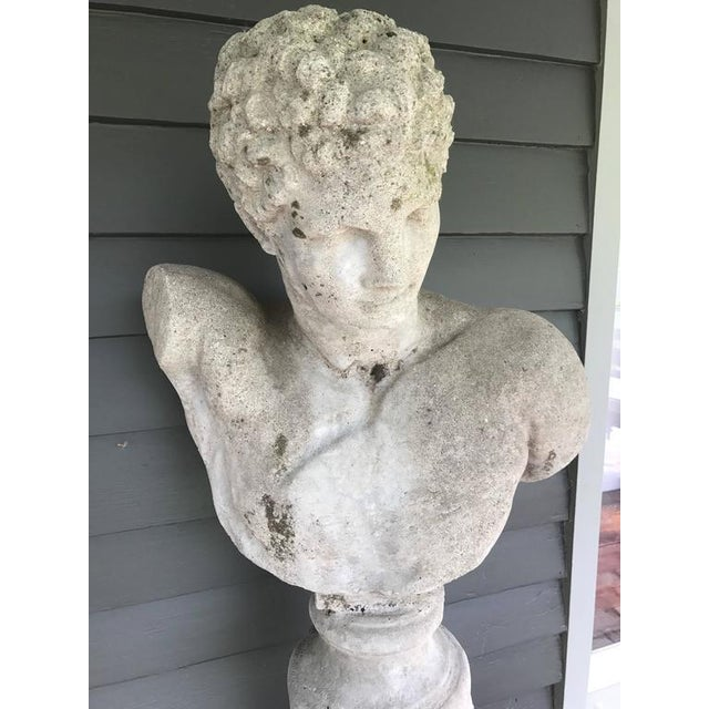 Cast Stone Italian Bust of Hermes For Sale - Image 4 of 6