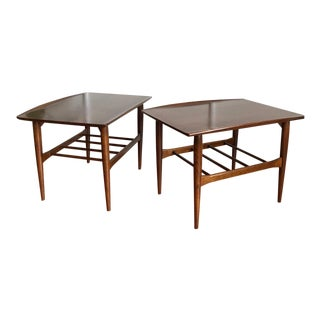 Vintage Mid-Century Leo Jiranek for Bassett Furniture Co. End Tables - a Pair For Sale
