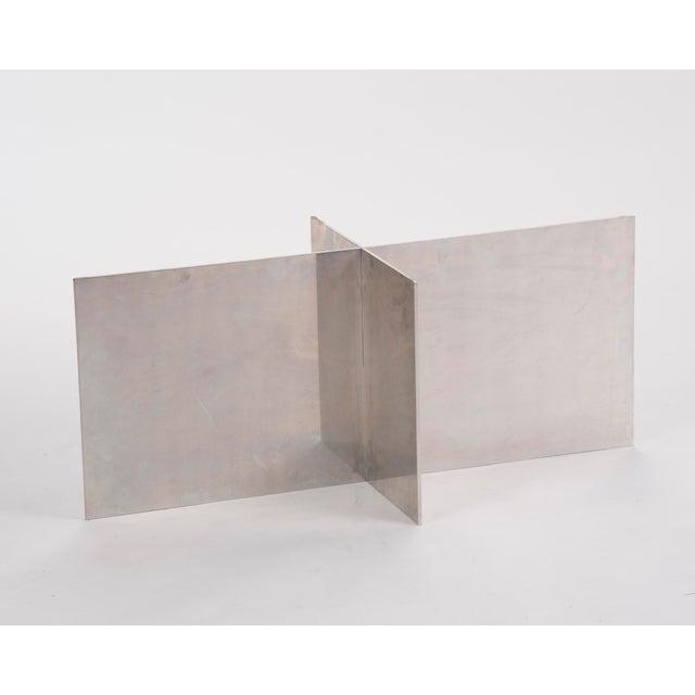 1970s Paul Mayen Habitat Aluminum Coffee Table For Sale - Image 5 of 12