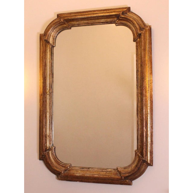 Early 20th Century Italian Hollywood Regency Florentine Giltwood Mirror For Sale - Image 5 of 6