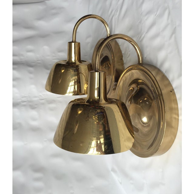 Mid-Century Modern Pair of Large Wall Lights by Josef Frank For Sale - Image 3 of 6
