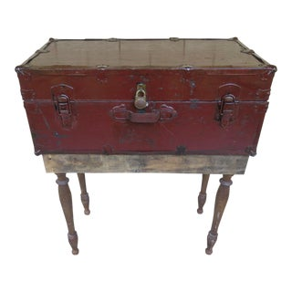 Farmhouse Trunk Console For Sale