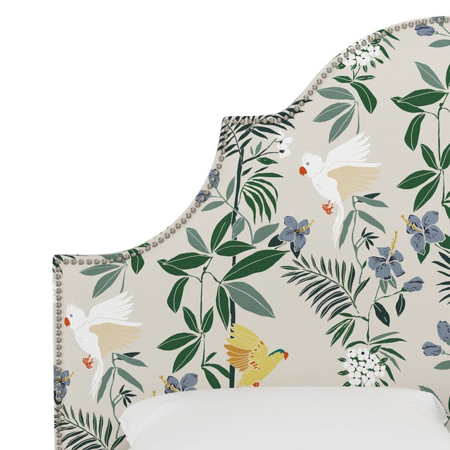 Queen Headboard, Belize Chinoiserie Cream For Sale - Image 4 of 7