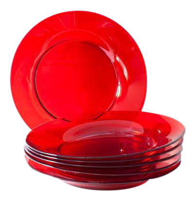 Ruby Red Glass Side Plates - Set of 6  sc 1 st  Chairish & Vintage \u0026 Used Brown Dinnerware | Chairish
