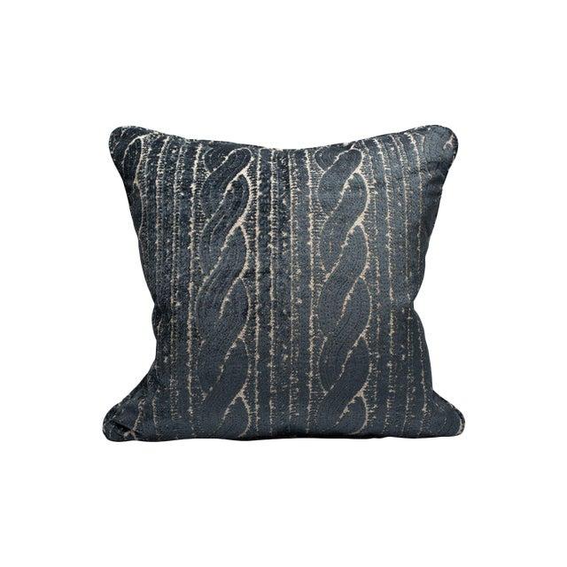 Scalamandre Sweater Pillow, Denim For Sale