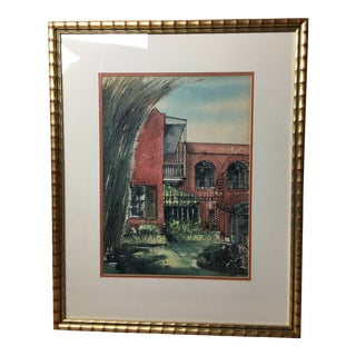 """New Orleans"" Watercolor Painting by Johnny Donnels (1924-2009) For Sale"