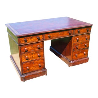 19th Century English Traditional Partners Desk For Sale