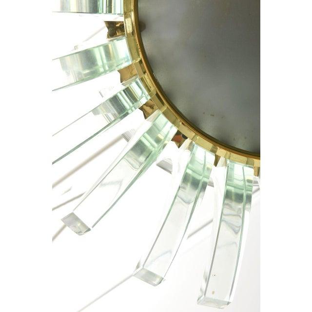 Transparent Rare Fontana Arte Glass Chandelier, Italy, 1950s For Sale - Image 8 of 9