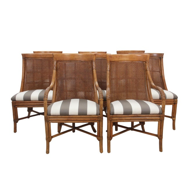 Bamboo Dining Chairs - Set of 8 For Sale - Image 9 of 9