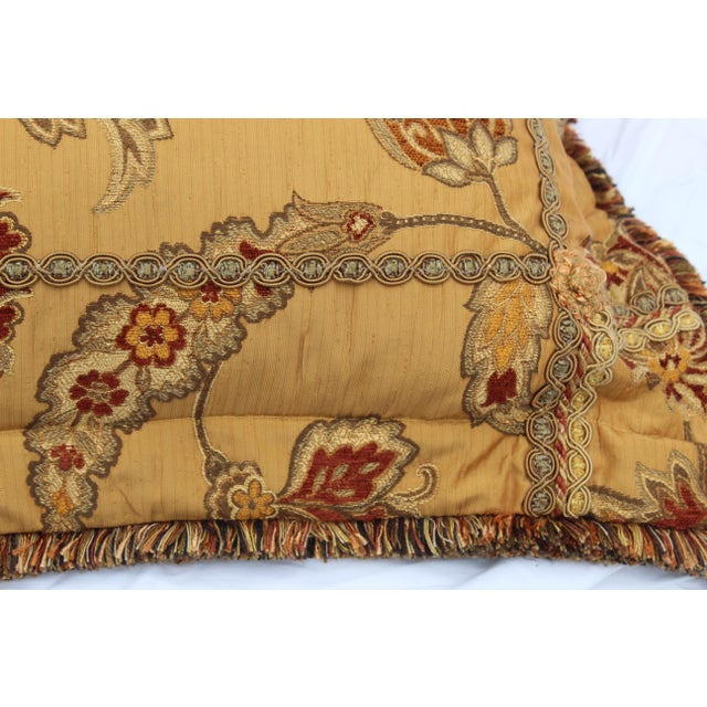 Gold 20th Century Italian Mediterranean Down Pillow For Sale - Image 8 of 9