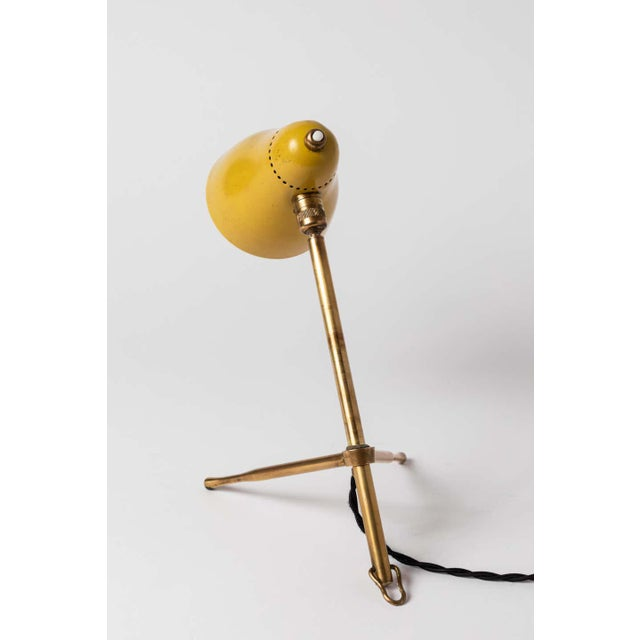 """Metal 1950s Giuseppe Ostuni """"Ochetta"""" Yellow Wall or Table Lamp for O-Luce For Sale - Image 7 of 13"""