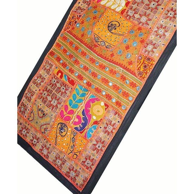 Boho Chic Antique Boho Chic Handmade Wall Hanging Tapestry For Sale - Image 3 of 8