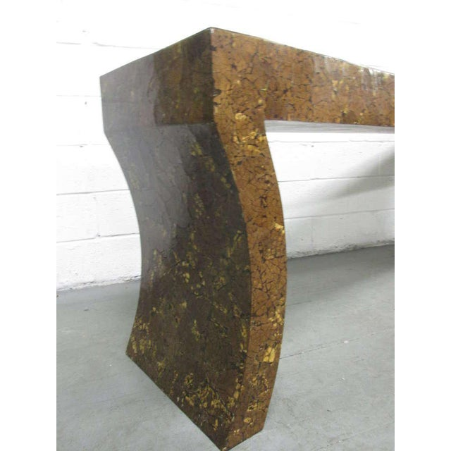 Enrique Garcel Lacquered Coconut Shell Console Table - Image 3 of 9
