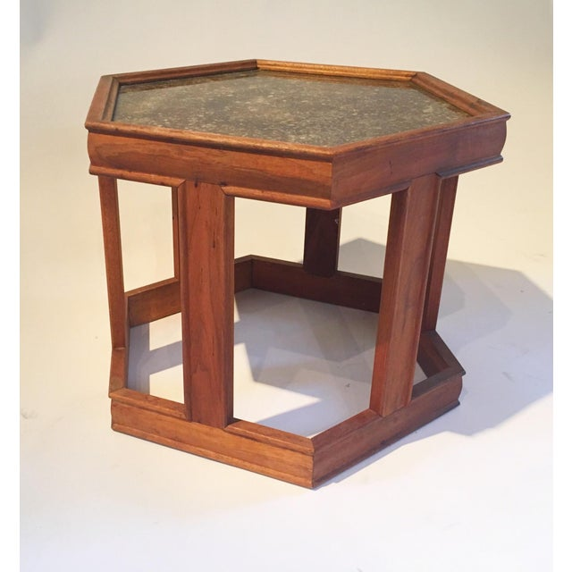 Mid-Century Hexagonal Side Table - Image 5 of 7