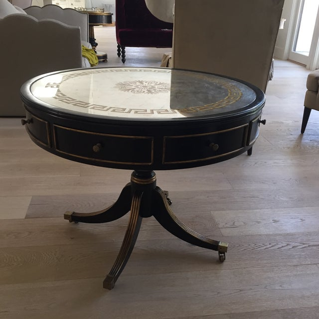 Late 20th Century John-Richard Vintage Drum Entry Table For Sale - Image 10 of 10
