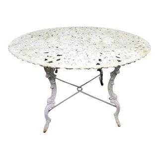 White Iron Round Table For Sale