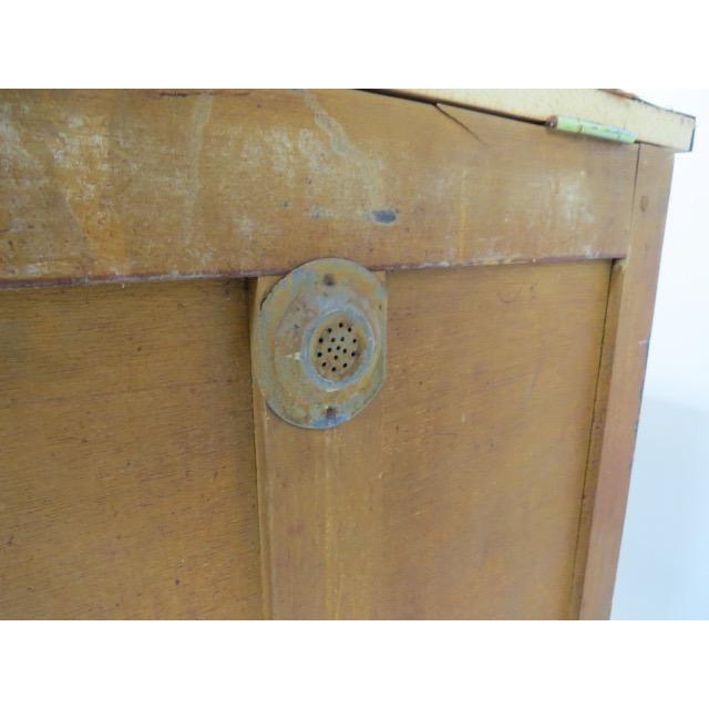 Vintage 1920s Oak Ice Box Refrigerator For Sale - Image 11 of 11