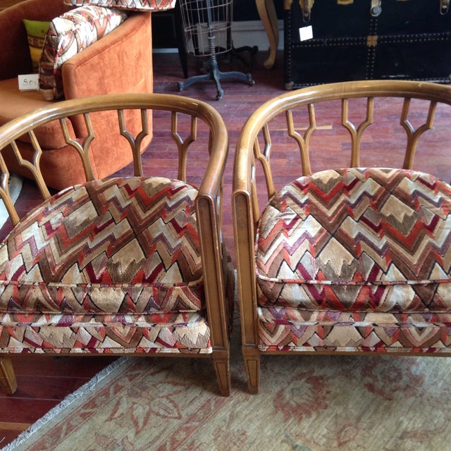 Vintage Barrel Back Club Chairs - A Pair - Image 9 of 11