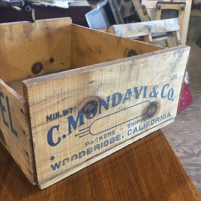 Mondavi & Co. Grape Crate Box Zinfandel Wine For Sale - Image 6 of 6