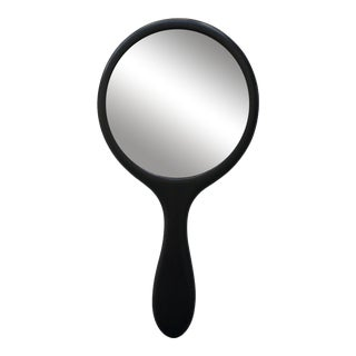 Early 20th Century Round Ebony Hand Mirror For Sale