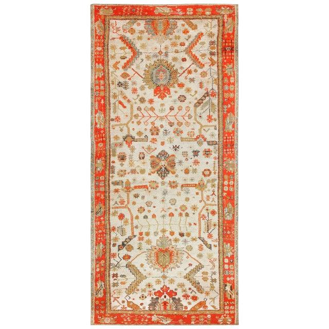 Antique Turkish Arts & Crafts Oushak Rug - 8′4″ × 17′3″ For Sale - Image 11 of 11