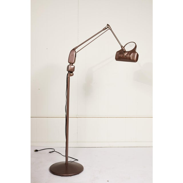 Industrial Industrial Articulating Arm Floor Lamp With Magnifier by Dazor For Sale - Image 3 of 12