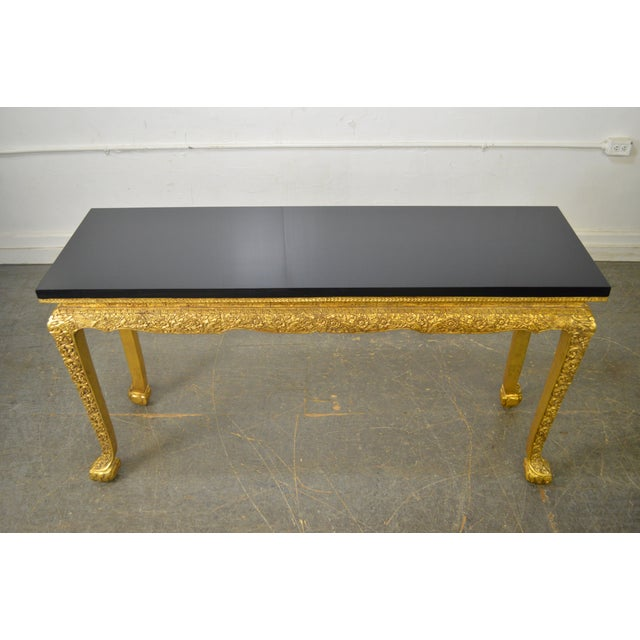 Georgian Style Carved Gilt Console Table by Manheim Weitz For Sale - Image 9 of 13